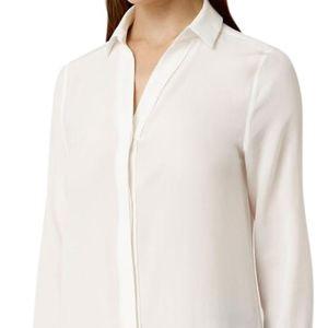 ALLSAINTS AIDEN SHIRT silk winter white NwoT 4
